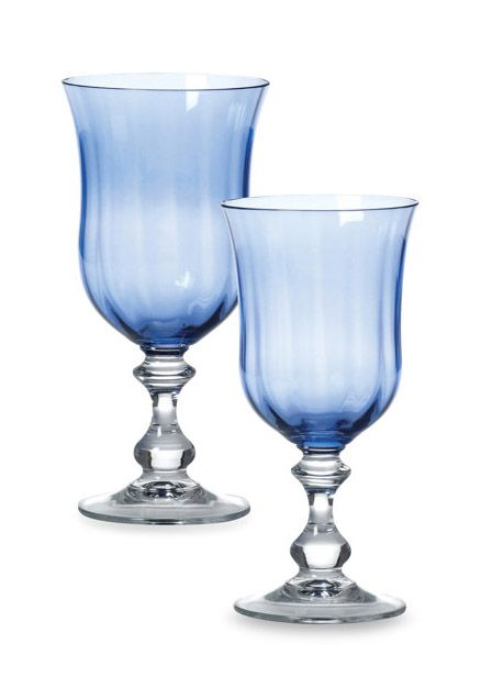 Mikasa French Countryside Blue Crystal Stemware