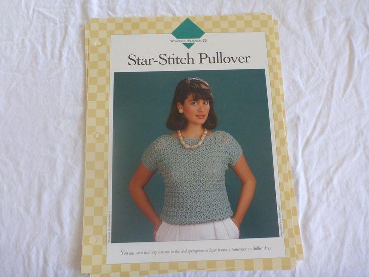 3 PATTERNS-Vanna's Afghan Crochet Favorites-Wonderful Wearables. Crochet buttons, crochet sweater, crochet pane; to add to sweatshirt B130 by CarolsCreations77 on Etsy