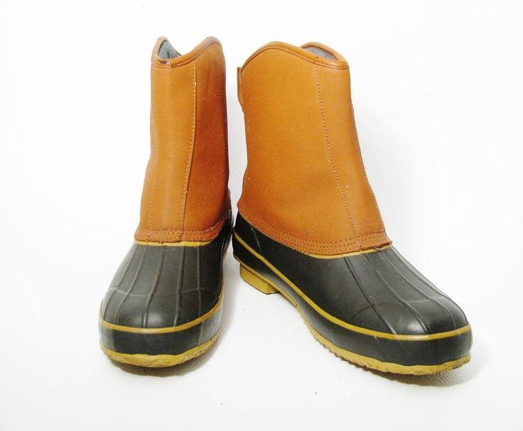 CRATER RIDGE Women's Duck Hunting Rubber Boots Steel Shanks Brown Black Sz 13 #CraterRidge #WorkSafety #HuntingDuck
