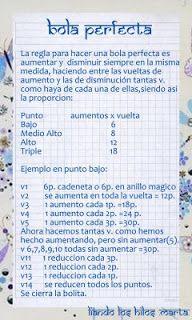 Un truco maravilloso, para hacer bolas perfectas con la técnica de ganchillo de las ampliaciones que quieras.http://laboresamparito.blogspot.com.es/2010/06/bola-perfecta.html LABORES AMPARITO: bola perfecta-Amigurumi