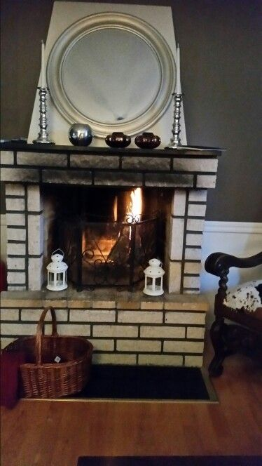 Before. Fireplace will be renovated.