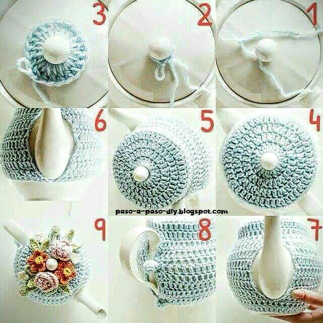 Cómo tejer funda para tetera al crochet / DIY - Paso a Paso