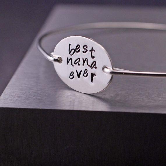 Nana Jewelry - Sterling Silver Best Nana Ever Gift by georgiedesigns