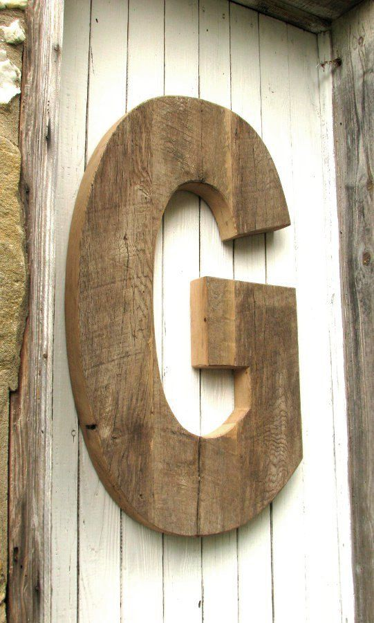 large rustic decorative wooden letter by secondnaturewoodwork 24000