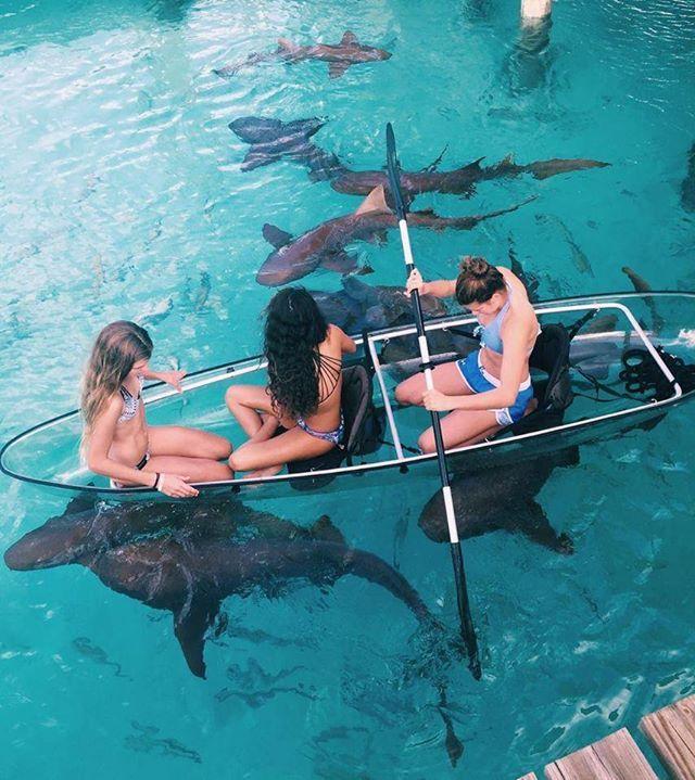 Glass bottom boats  / Exuma Bahamas /  Kailin Kerzner Say Yes To Adventure