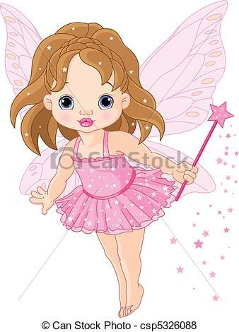 Cute little baby fairy - csp5326088