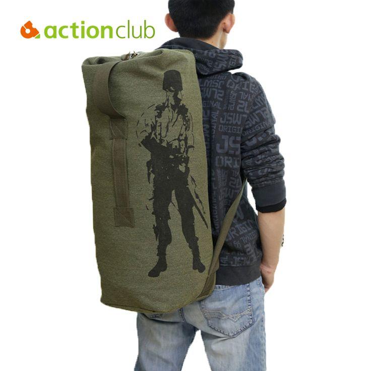 Actionclub Luar Travel Bagasi Tas Kanvas Mendaki Ransel Berkemah Taktis Rucksack Army Pria Militer Ransel mochila SH360