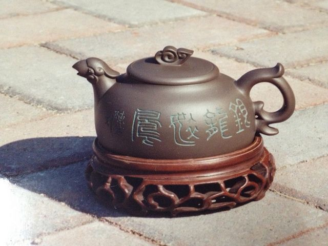 Chinese clay tea pot also named Yixing tea pot - love them