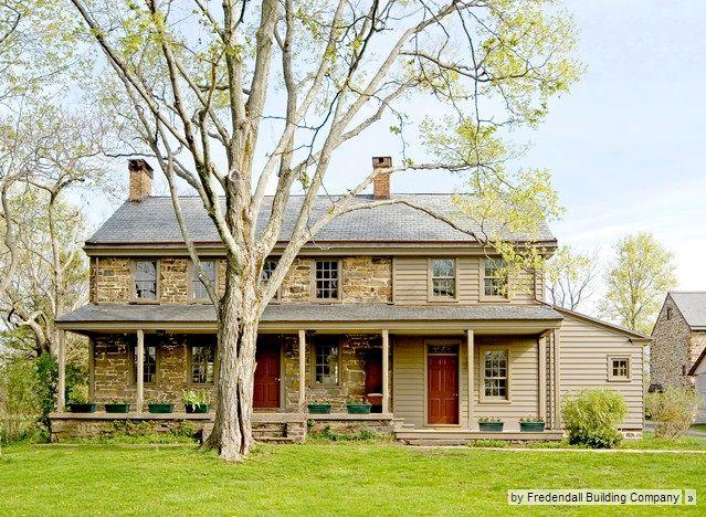 stone farmhouse fredenial building co - Stone Farmhouse Exteriors