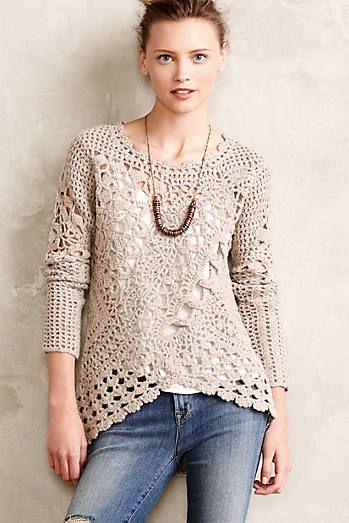 Suéter de Crochê                                                                                                                                                      Más
