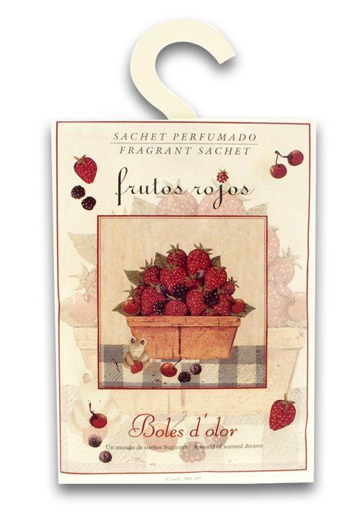 Sachet con olor a frutos rojos de Boles D'olor para armarios, cajones, coche o cualquier rincón