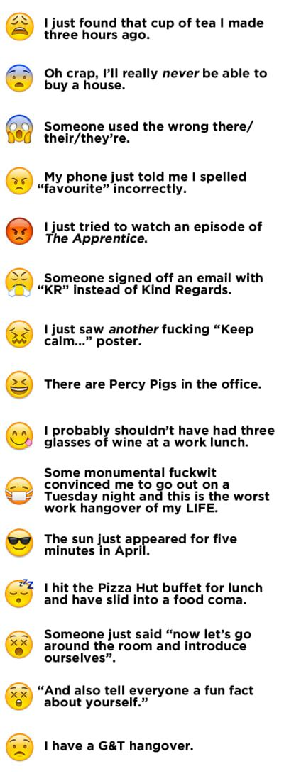 Here's What The 58 Smiley Emojis Mean, As Defined By British People