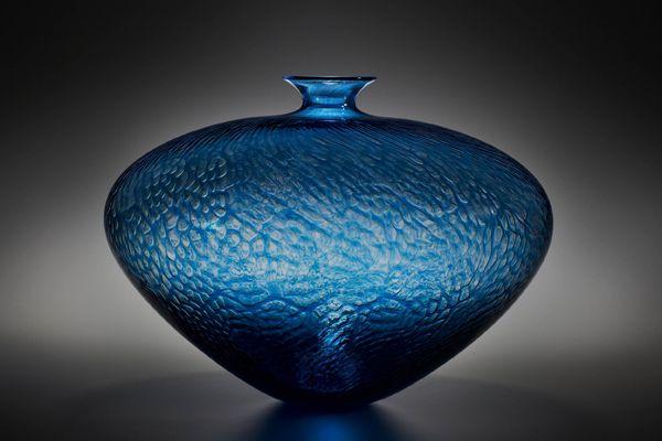 Contemporay Art Glass Collection: Ocean Vase.