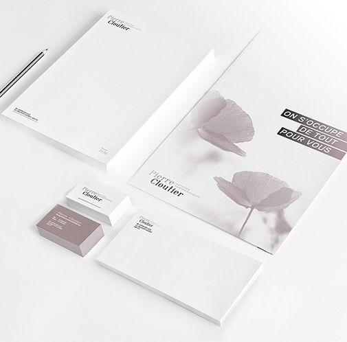 Services commémoratifs Pierre Cloutier / Positionnement et image de marque / Beez Créativité Média