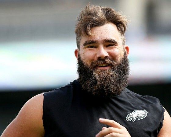 Eagles C Jason Kelce (62) smiles at fans during warmups before the game against the Cleveland Browns at Lincoln Financial Field in Philadelphia, Sunday, Sept. 11, 2016. (Lori M. Nichols | For NJ.com)