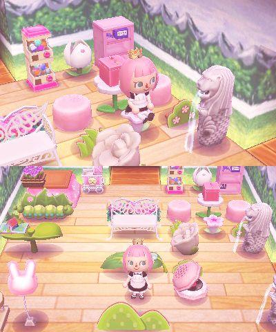 Room inspiration kawaii pink room animal crossing for Modern house acnl