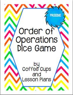 Coffee Cups and Lesson Plans: Critical Thinking with Order of Operations Review FREEBIE