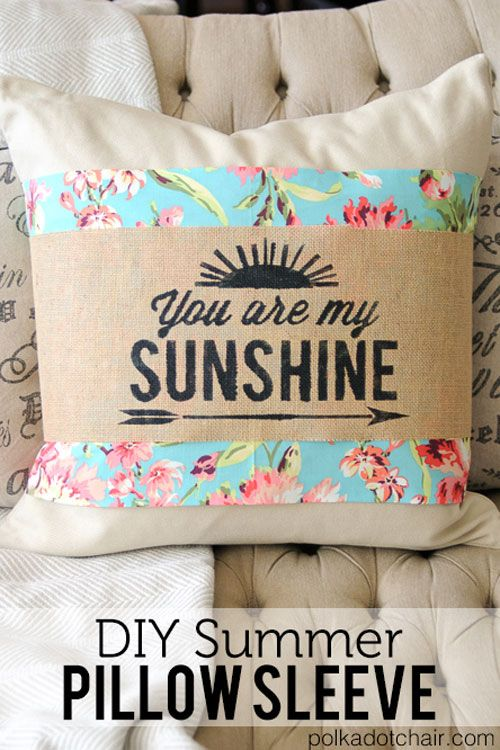 DIY Summer Pillow Sleeve - Free Sewing Tutorial & 38 best Pillows and Cushions Sewing Patterns images on Pinterest ... pillowsntoast.com