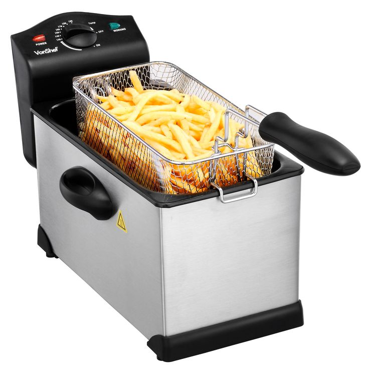 VonShef 3L Deep Fat Fryer   Forget the fish and chip shop and make your own at home with the VonShef Deep Fat Fryer. #deepfatfryer #kitchen #appliances #cookingequipment