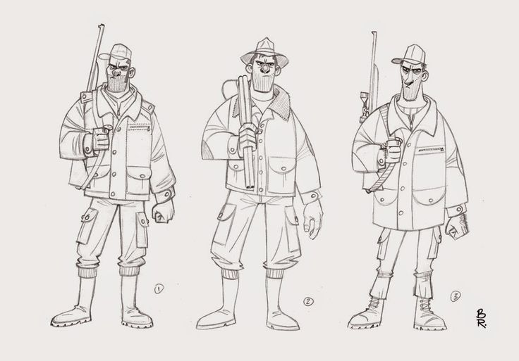 Character Design Internships : Best character pose shooting holding guns images