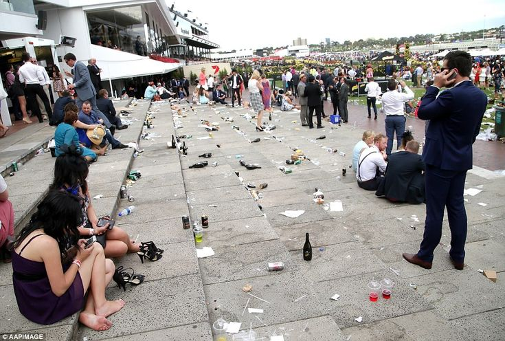 Litter galore! The grounds take a bit if a battering after more than 100,000 passed throug...