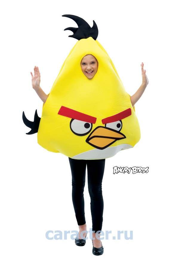 Карнавальные костюмы :: Унисекс дети :: Игры :: Костюм ANGRY BIRDS жёлтый -
