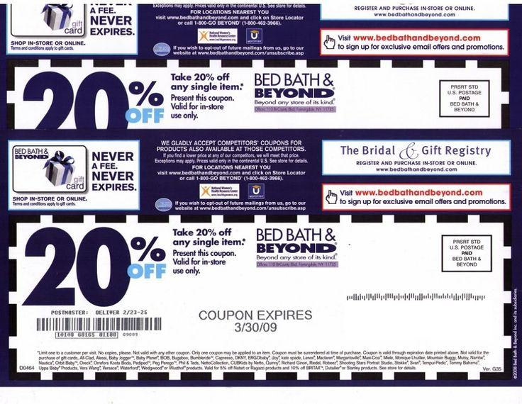 Bedding Coupons & Promo Codes Online In-Store Coupon Verified! 55 used today. Save $25 Off $ Limited Time Shop at Bed Bath & Beyond and save up to 50% off during the Madison Park Manufacturer's Savings Event! check out Groupon Coupons for exclusive coupon codes, free offers, and other giveaways. Here's how it works.