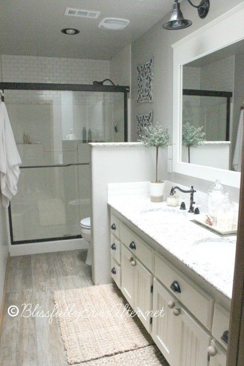 efficient bathroom remodel--too small for master but would be great for a second bath