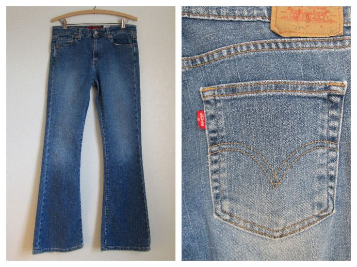 Levi Strauss Levi's 519 Red Tab Jeans Low Rise Stretch Flare Cotton Blend- JR 9 #Levis #Flare