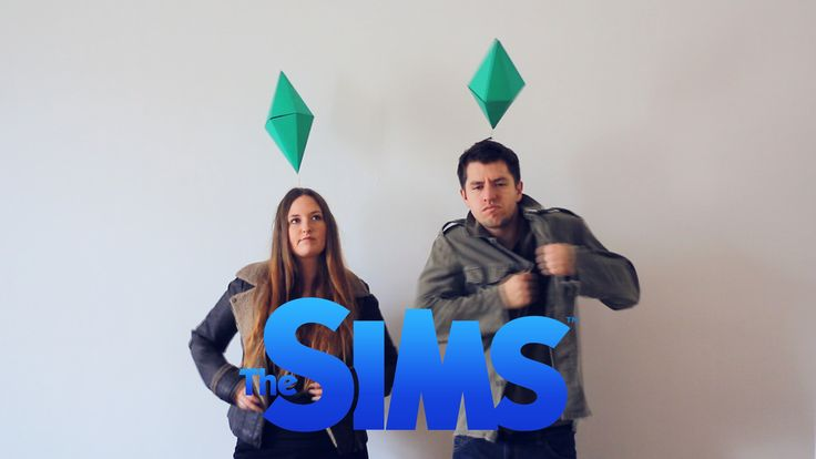 Halloween costume, couple costume, The Sims, last minute, diy, eas, idea