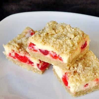 cherry vanilla cheesecake bars >> YUM! Click on image for recipe...