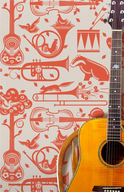 minimoderns pet sounds wallpaper via design sponge. new favorite. where can i use this ??
