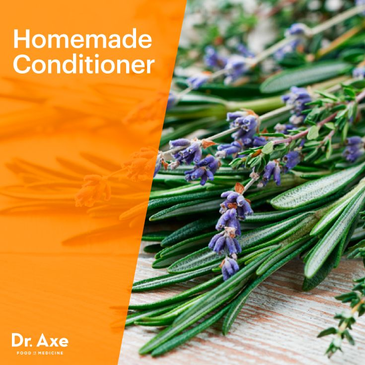 Homemade Conditioner 1 cup water 2 tbsp apple cider vinegar 10 drops of essential oils Customize Your Conditioner: [Rosemary or sage essential oils for all types of hair] [Lemon, bergamot, or tea tree essential oils for oily hair] [Lavender, sandalwood or geranium essential oils for dry hair or dandruff]