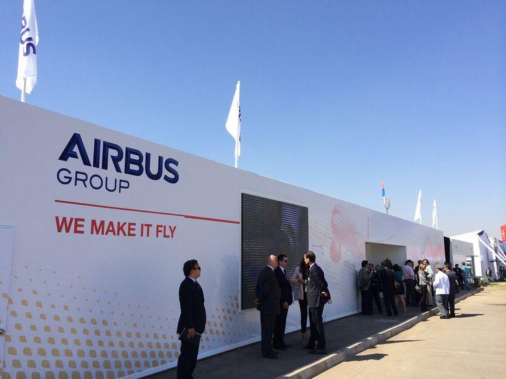 Airbus Group Chalet facade @ FIDAE, Santiago de Chile by Proj-X Design.  www.proj-x.com.au