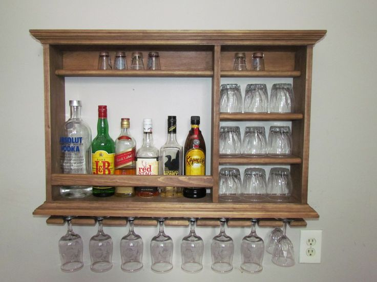Mini Bar, Walnut stain, 3'x2' minimalist style wine rack by DogWoodShop on Etsy https://www.etsy.com/dk-en/listing/224515827/mini-bar-walnut-stain-3x2-minimalist
