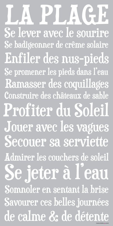 Affiche adhésive - Sticker géant - Poster autocollant - Déco vacances