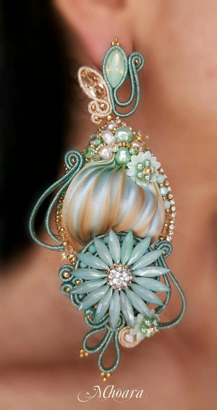 Shibori silk and soutache by Mhoara