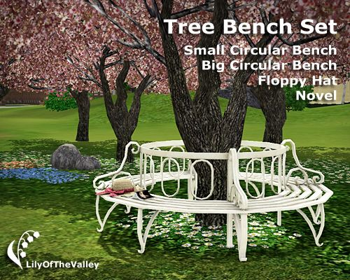 LilyOfTheValley's Tree Bench Set