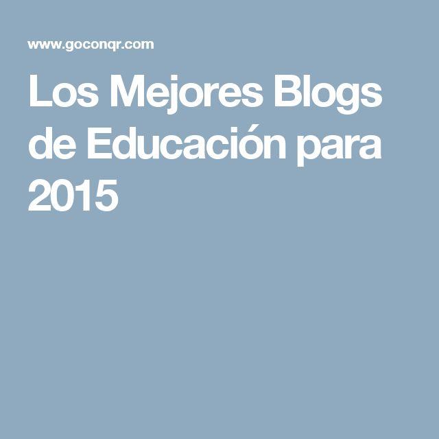Los Mejores Blogs de Educación para 2015