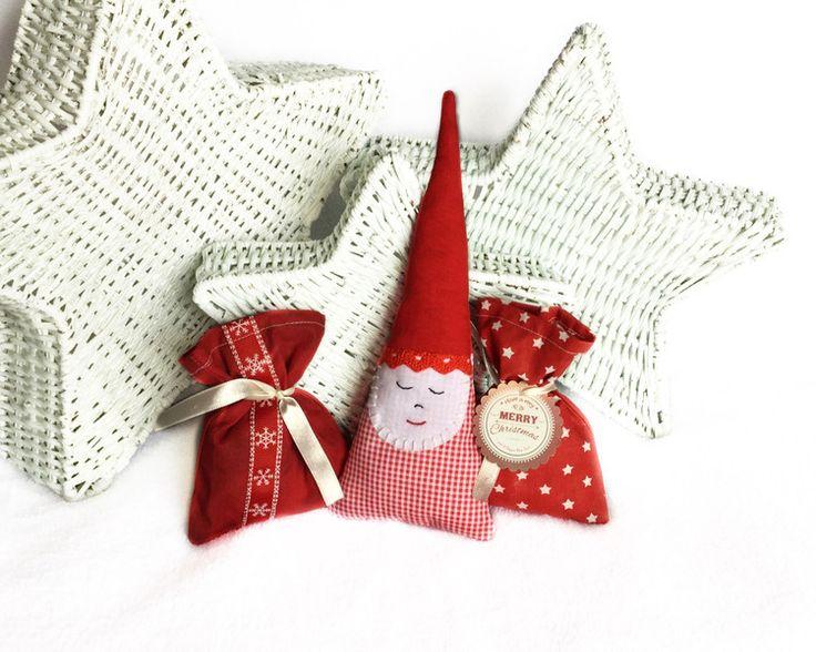 Babbo Natale in tessuto - decorazioni natalizie  di LutteLuud su DaWanda.com