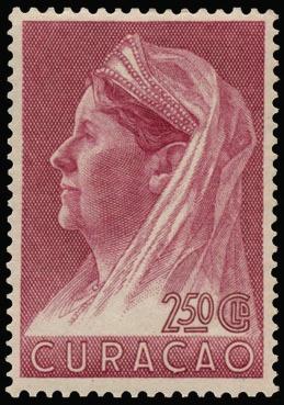 """Curacao N° 136/37 """"1936 Wilhelmina met sluier"""" zm (Cote Euro 190)    Dealer  Van Looy Stamp Auctions    Auction  Minimum Bid:  38.00EUR"""
