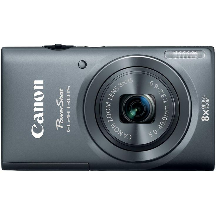 Canon PowerShot ELPH 130 IS - Digital camera - compact - 16.0 Mpix - 8 x optical zoom - Wi-Fi - gray More Details