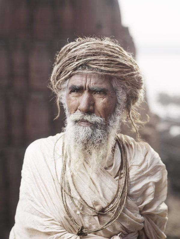 Holly man from Varanasi, Uttar Pradesh, (India) by Joey Lawrence