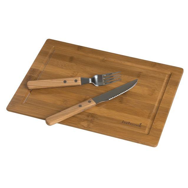 Deska do krojenia z sztućcami dla jednej osoby - Barbecook - markowe grille