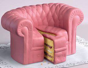 pink sofa cake