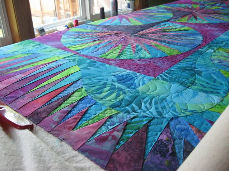 I've had this customer quilt in my studio for awhile.  I didn't want to start it until I was pretty sure what I would do and really had th...