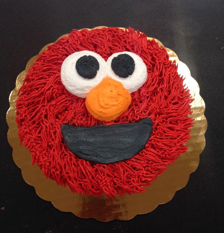 Elmo smash cake made by me :)