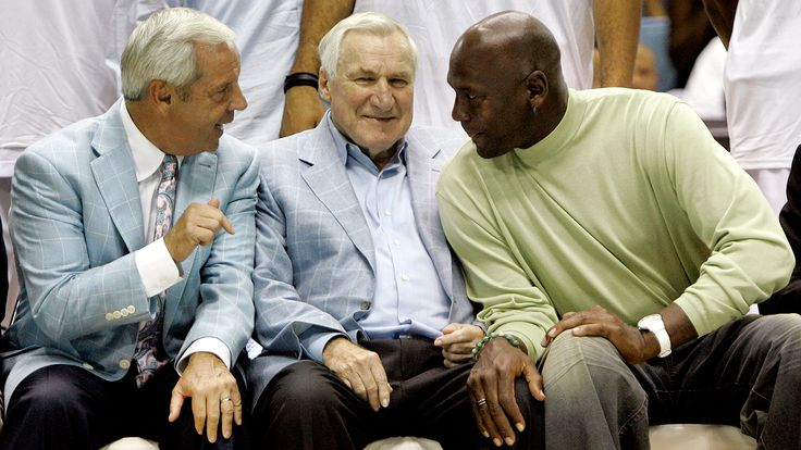 Dean Smith, who coached North Carolina to two men's basketball national titles, died Saturday night at the age of 83.