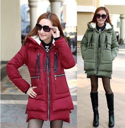Зима Вскользь Пальто Мода Марка Долгой Зимы Пальто Женщин Куртки женщина Куртка С Капюшоном Армии Зеленый Черный Пиджаки Для Женщин F687