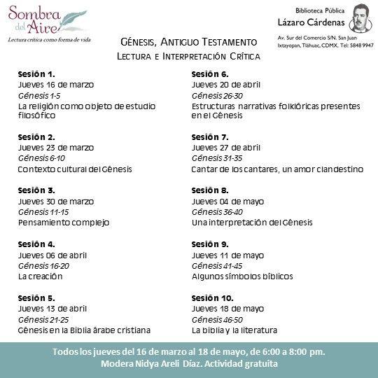 Todos los jueves hasta el 18 de mayo, Círculo de Lectura Crítica #SombradelAire